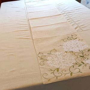 Dining table cover.